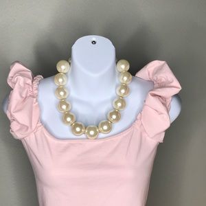 Extra large faux pearl necklace